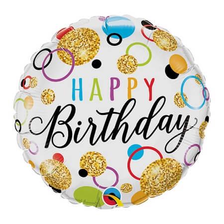 Helium Balloon - Happy Birthday