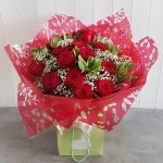 Red Rose Hand Tied