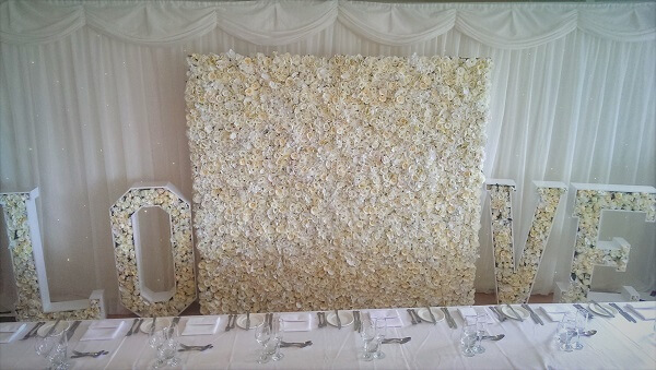 Floral Love Letters & Flower Wall
