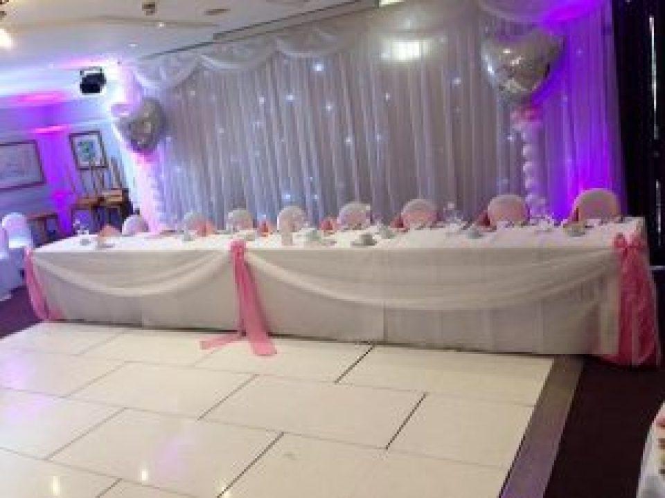 Top Table Twinkle Backdrop