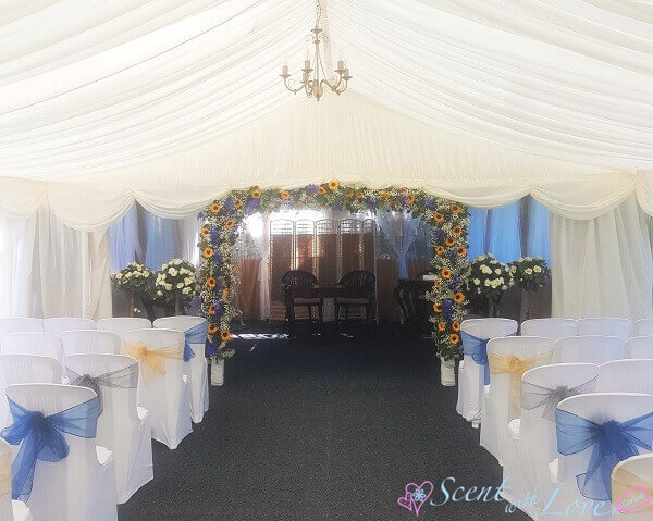 Marquee Flower Archway