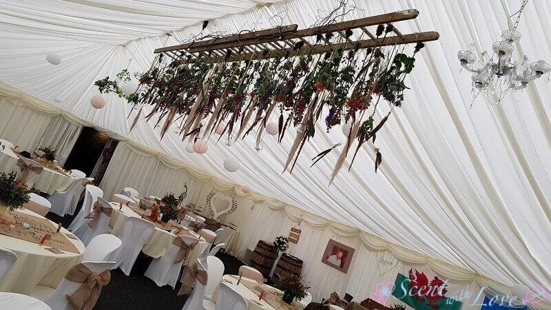 Marquee Ladder Flowers