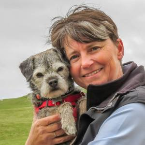 elite scentwork trainer moira owers with puffin