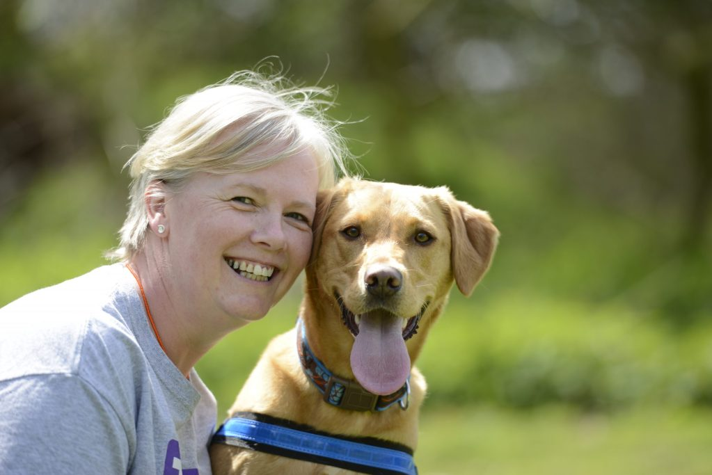 talking dogs scentwork founder Pam Mackinnon with labrador Cherry origins TDS