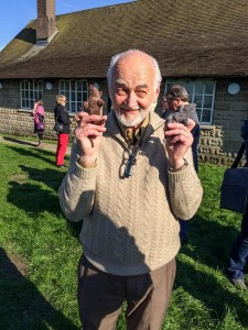 Jaak Panksepp with scentwork mice