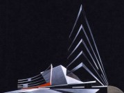Design for Cardiff Opera House, Zaha Hadid, 1994