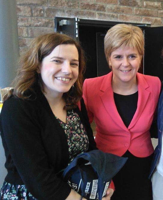 Kasia Kokowska standing beside Nicola Sturgeon