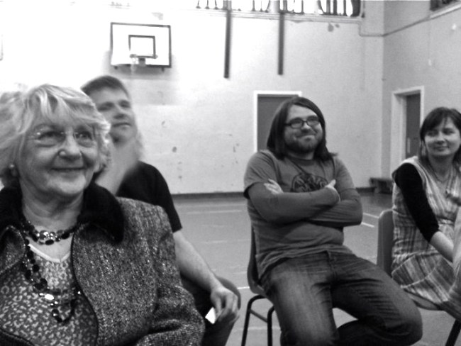 Smiling faces of Polish community group, Swietlica in Leith