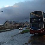 Bus ride to reality. The Number 14 bus at Greendykes, Craigmillar, preparing the return journey to Muirhouse