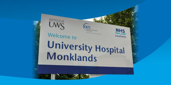 Cover of NHSL consultation report 'Welcome to University Hospital Monklands'