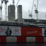 Red hoardings promise regeneration at Edinburgh St James