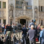 Press pack outside UK Supreme Court in London, 17 September 2019: image by Steve Nimmons CC By-2.0