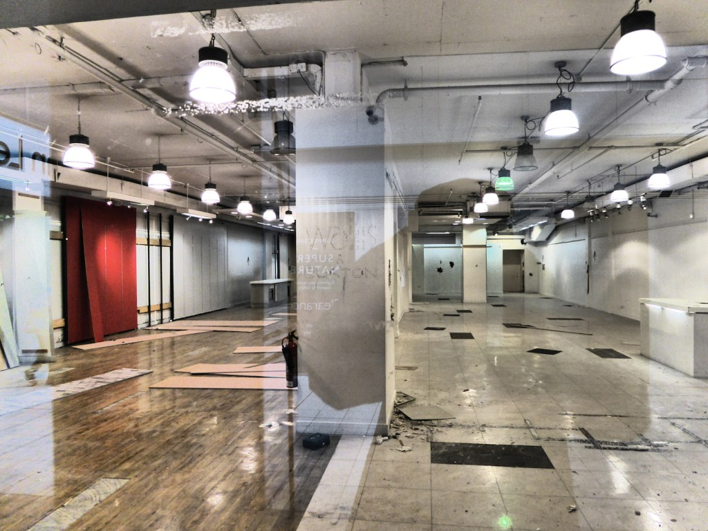 gutted and empty, the old St James Centre