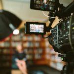 View through a film camera screen
