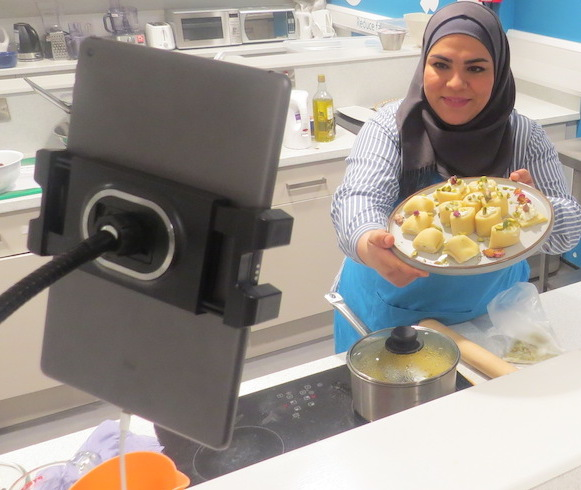 Online Syrian Supper Club with Nouri at Cyrenians Flavour and Haver community kitchen. Picture Jonathan Trew