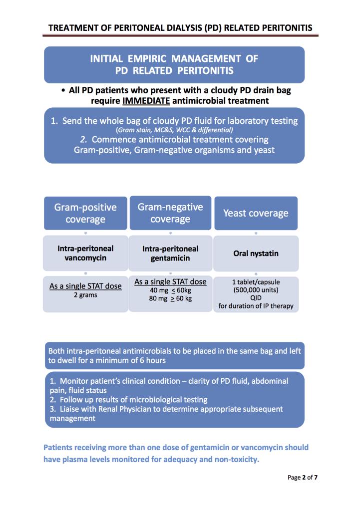 CAPD peritonitis guideline