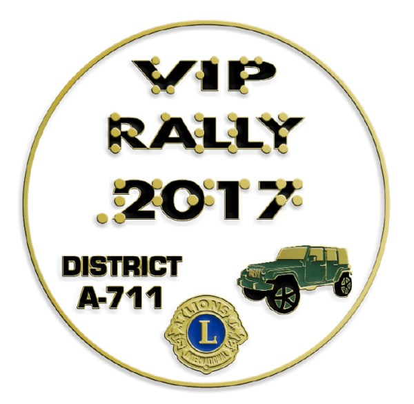 2017 VIP Car Rally pin