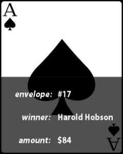 Week 4 winner Harold Hobson picked the Ace of Spades
