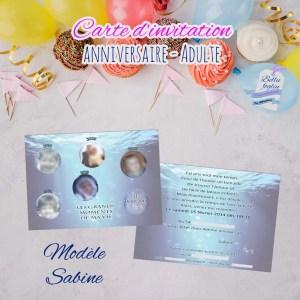 Carte d'invitation anniversaire océan vie