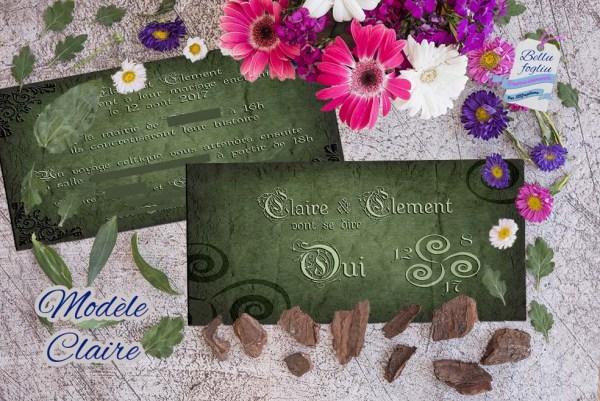 faire-part mariage celtique