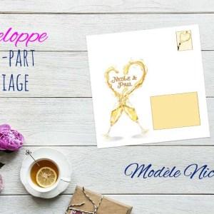 Enveloppe pour faire-part mariage