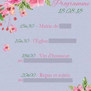 faire-part mariage pochette ciselée fleurs rose