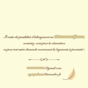 Faire-part mariage pochette ciselée automne feuille