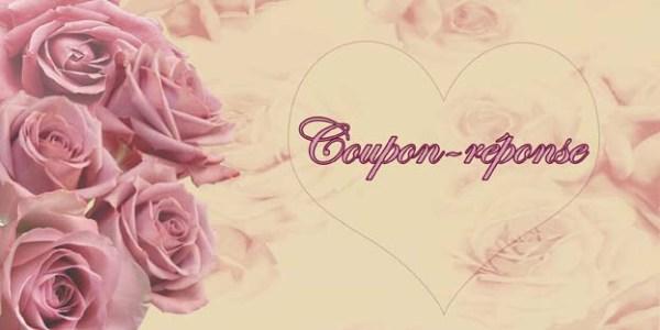 Faire-part mariage fleurs vieux rose