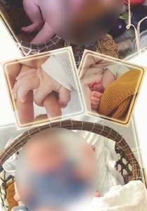 faire-part naissance marque page photo