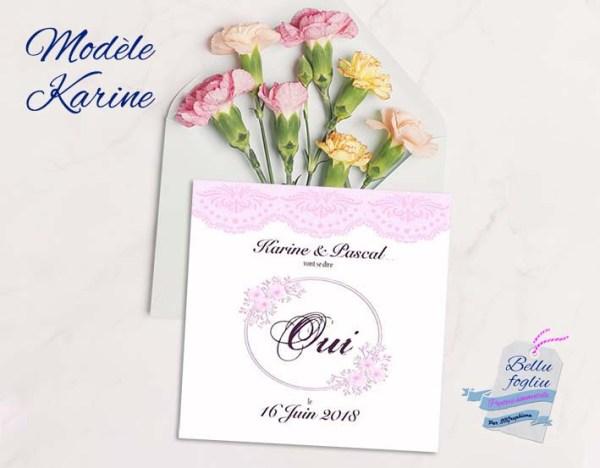 faire-part mariage dentelle et fleurs