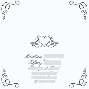 faire-part mariage pochette cisélée arabesque romantique