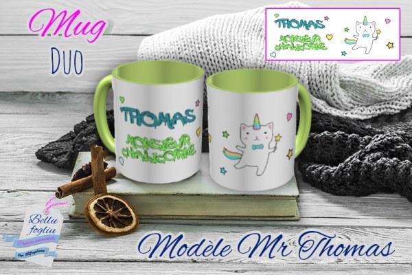 Mug personnalisable prenom chat licorne chalicorne
