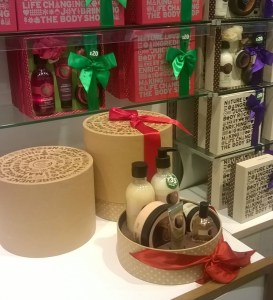 Reusable and recyclable gift boxes from the Body Shop