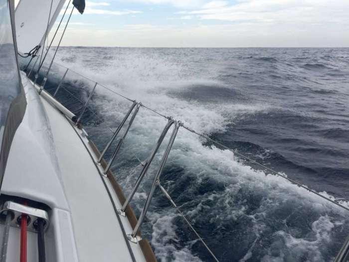 Wet sea conditions