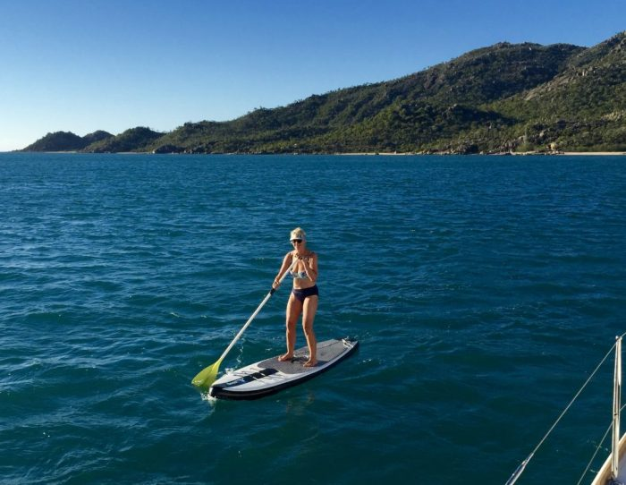 Paddle boarding in the lee of Cape Upstart