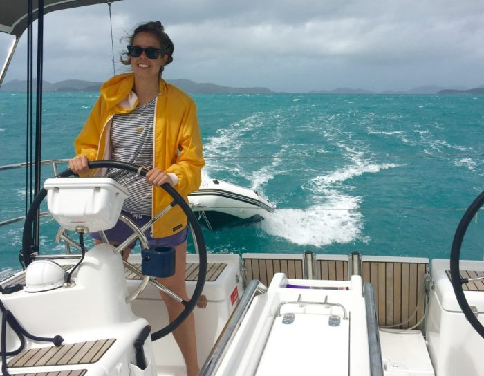 Fast downwind reach through Whitsunday passage.
