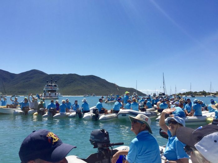 Dinghy raft up - all 120 of them.