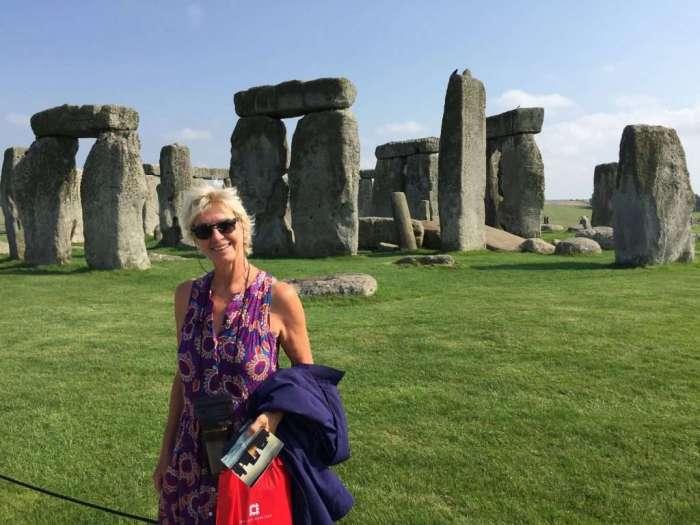 Annie at Stonehenge.