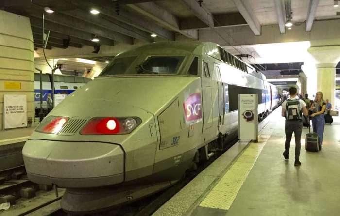 Train spotting: The TGV beast.