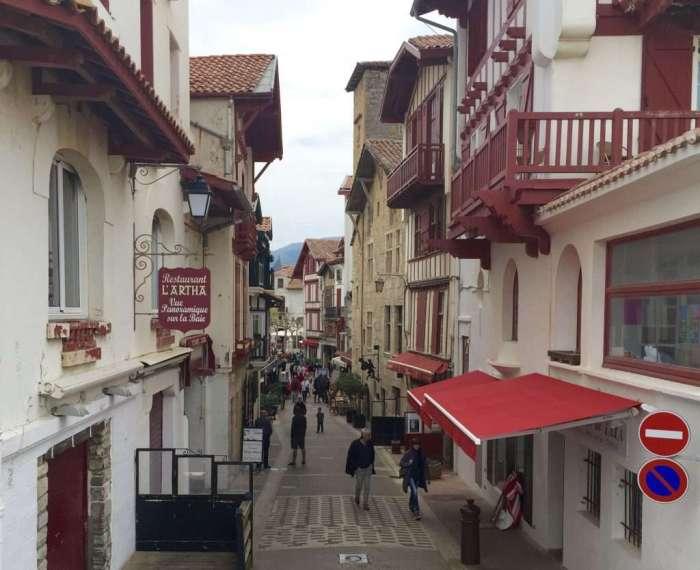 Following: Saint-Jean-de-Luz street scenes.