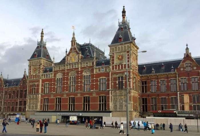 Amsterdam Central Station.