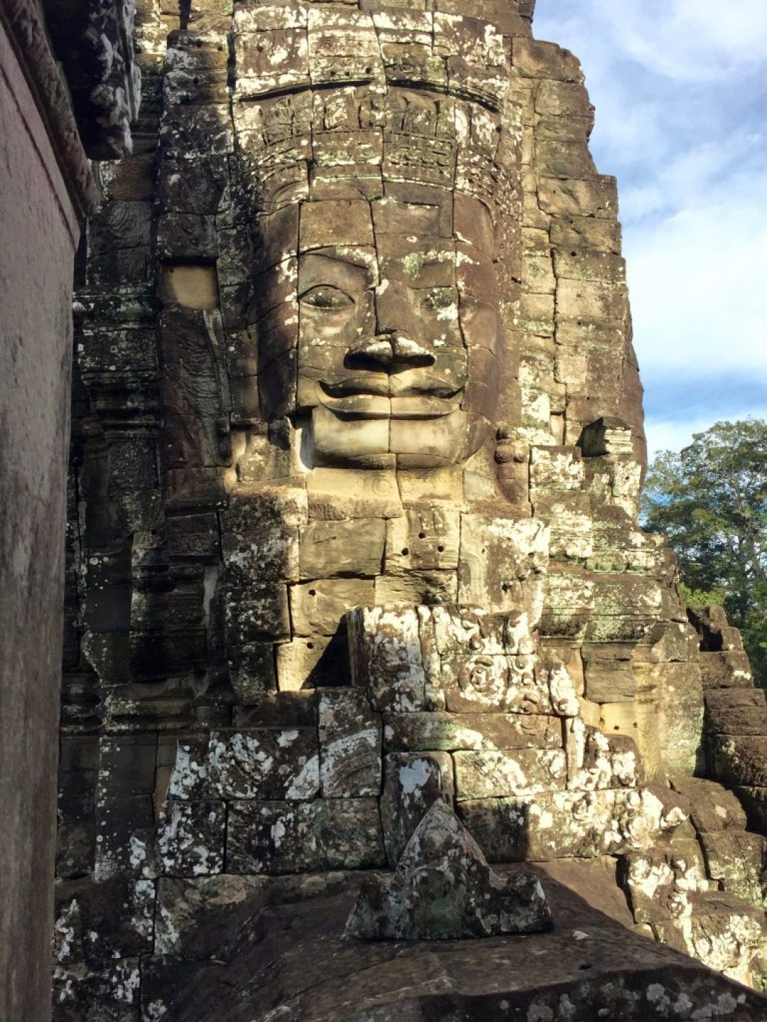 Buddha faces - many of these.