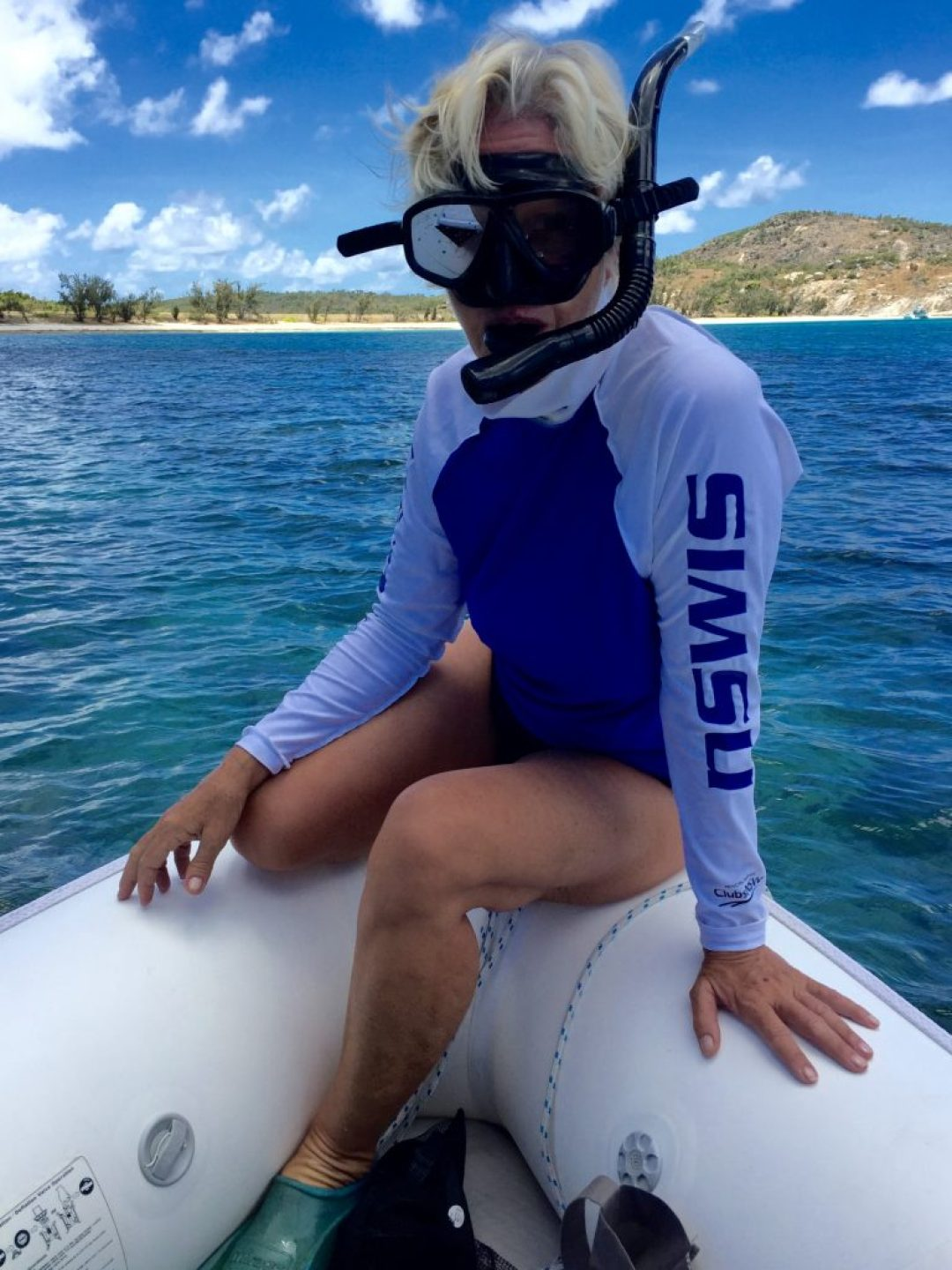 Snorkelling on the reefs.