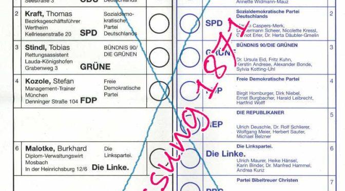 Stimmzettel der Nichtwähler