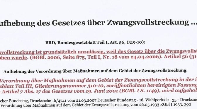 Update 2: Besatzungsmächte dulden nicht länger Ausplünderung der Menschen in Deutschland