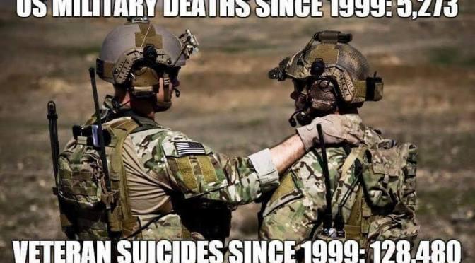 Selbstmordrate bei den Veteranen der US Armee