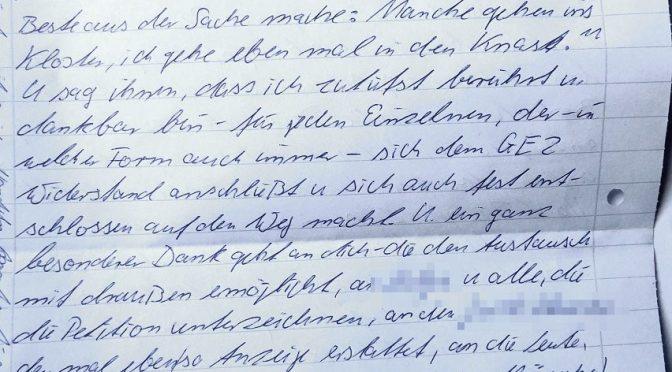 Brief aus dem Knast. Die konsequente GEZ-Verweigerung