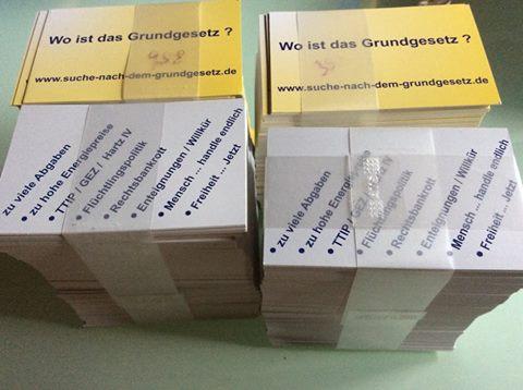 Visitenkarten Grundgesetzsuche