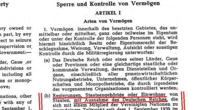 Das völkerrechtliche Subjekt – Das Deutsche Reich oder die unauflöslichen Rechte der Deutschen