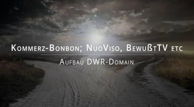Kommerz-Bonbon; NuoViso, BewußtTV etc; Aufbau DWR-Domain